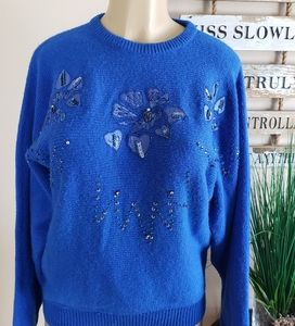 Vintage Carriage Court sweater size L